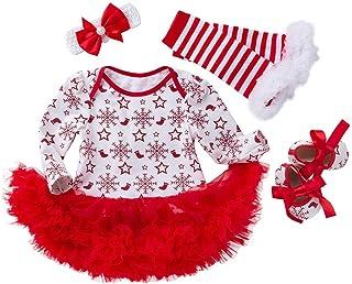 K-youth Niñas Bebés Mi Primera Navidad Vestidos Navidad Ropa Bebe Niña Monos Navidad Bebé Peleles Ropa Bebé Recién Nacido ...
