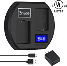 [UL Certified] Snado NP-FW50 LCD Dual Fast Charger, Compatible with Sony A3000, A5000, A5100, A6000, A6300, A6500, A7, A7II, A7SII, A7S, A7S2, A7R, A7R2, A7RII, A55, RX10, RX10II, RX10 III, RX10 IV