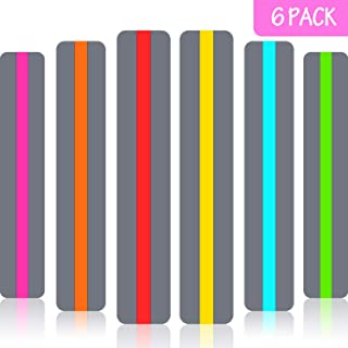 6 Pieces Guided Reading Strips Highlight Strips Colored Overlay Highlight Bookmarks Help with Dyslexia for Crystal Children and Teacher Supply Assistant