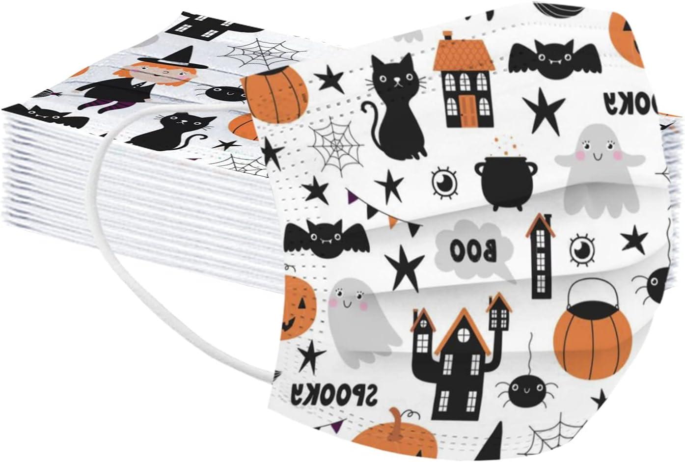 50 Pcs Kids Disposable Face_Masks Printed SALENEW very popular Halloween Facemasks f Ranking TOP2