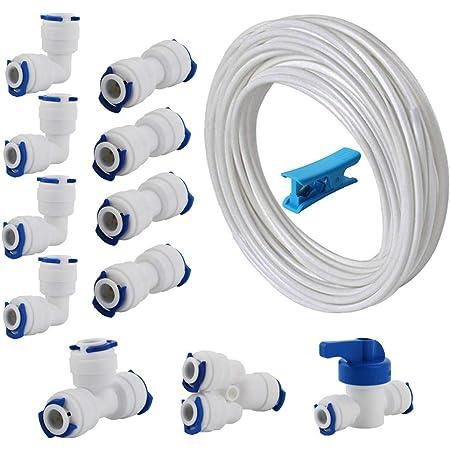 Réfrigérateur filtre eau 10 m Tuyau Tube Raccord Plomberie Kit Connecteurs