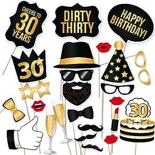 30 accessoires de décoration pour photos d'anniversaire