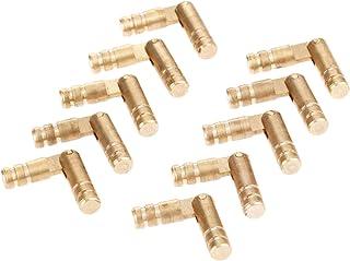 10PCS النحاس النحاس النبيذ النبيذ مربع مخفي غير مرئية أخفى برميل المفصلي للأثاث آليات تشكيله ناعما