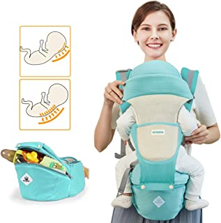 Baby Carrier Sling All Carry with Hip Seat 360 All Carry Positions Award-Winning Ergonomic Baby Seats (Green)