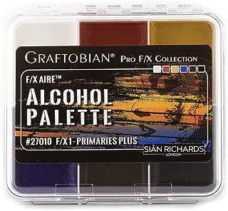 Graftobian F/X Aire Alcohol Activated Palette - SFX Makeup (F/X 1 - Primaries Plus)