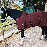 Coperta per cavalli, pony, traspirante, in pile, per asciugare rapidamente e riscaldare (marrone, 125 cm)
