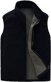 CIKRILAN Men's Fleece Vest Warm Soft Comfort Lightweight Full Zip Sleeveless Jacket Body Warmer Outdoor Jacket Gilet