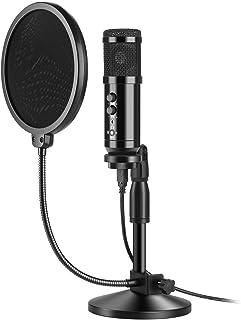 USB Microfoon, AGPtEK USB Microfoon Kit 192KHz/24Bit USB Condensator Podcast Streaming Microfoon met Tafelmicrofoon Stand,...
