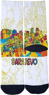 Mens Womens Casual Sarajevo Travel Art Map Socks Crazy Custom Socks Creative Personality Crew Socks