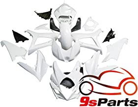9sparts Unpainted ABS Plastic Injection Pre-Drilled Hole Cowl Fairings Bodywork Kit Complete Set For 2007 2008 Suzuki GSXR1000 GSXR 1000