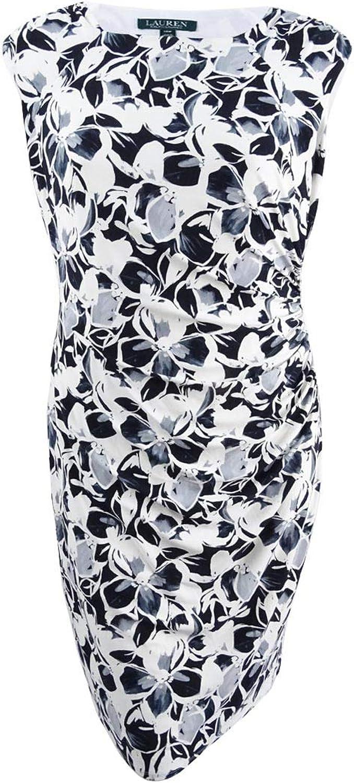 Lauren Ralph Lauren Womens Plus Cap Sleeves KneeLength Wear to Work Dress