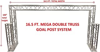Complete 16.5 ft Square Aluminum Double Truss Goal Post Lighting System DJ Lights Extra 1.25 Meter Upright Truss Totems Attach To Bases!