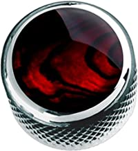 Q-parts DOME Red Abalone Shell in Chrome KCD-0011 コントロールノブ