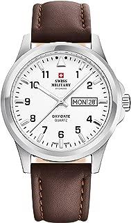 Swiss military Chrono Mens Analog Quartz Watch with Leather Bracelet SM34071.02