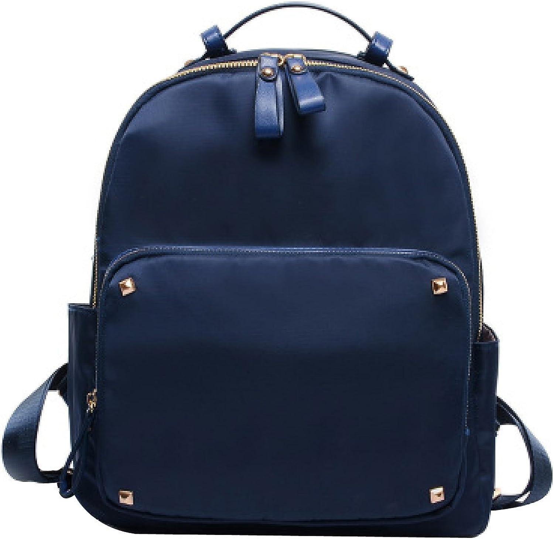 Men And Women New School Wind Oxford Oxford Waterproof Backpack,DarkblueeeOneSize