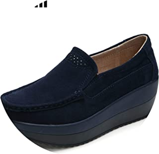 2019 Spring Women Flats Shoes Platform Sneakers Shoes Genuine Leather Slip On ies Flats Heels