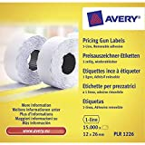Avery PLR1226 Etichette per Prezzatrice 1 Linea Rimovibili, 1500 Pezzi per Rotolo...