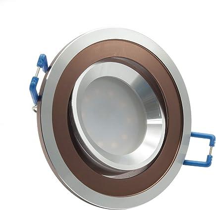 Spot LED 5 W encastrable rond porte lampe orientable angle /étroit trou 85 mm Bianco caldo Blanc