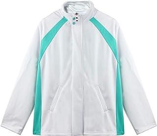 Giron, giacca da pallavolo unisex Haikyuu anime a maniche lunghe, con colletto alto, con zip intera, manga Aoba, Johsai, g...