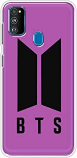 Okteq Clear TPU Protection and Hybrid Rigid Clear Back Cover Compatible with Samsung Galaxy M30s - BTS purple By Okteq
