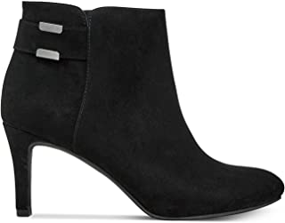 Womens Step 'N Flex Faust Booties Suede Almond, Black Micro, Size 11.0