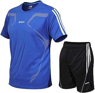 [ベンケ] スポーツウェア メンズ 半袖 上下セット ジャージ セットアップ アクティブウェア ジム 通気性 速乾性