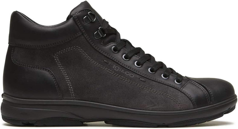 Igi&Co 2122700 shoes with Laces Man Black 43