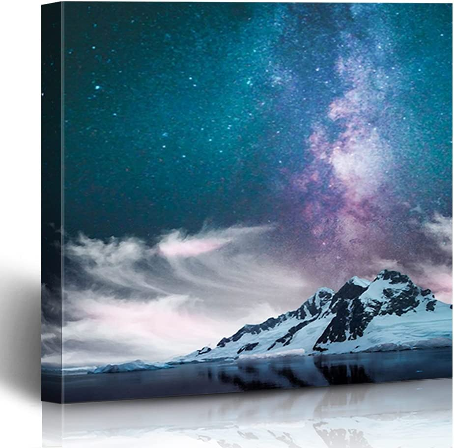 FAREYY Canvas Prints Landscapes Purple Art Milky Decor Wall Max 52% OFF Way OFFicial site