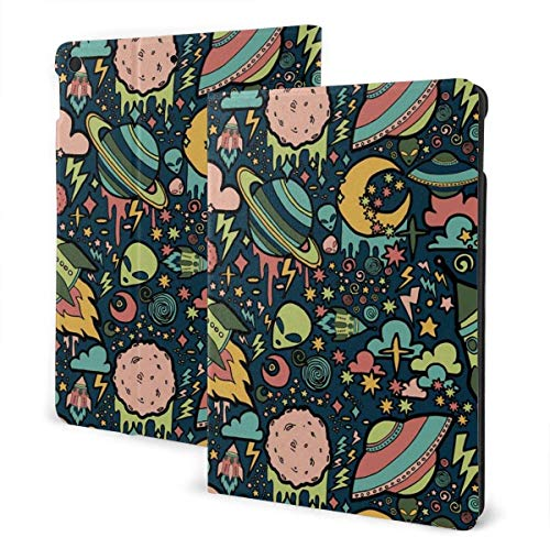 Heart Wood Pile Case for Ipad Air 3rd Gen 10.5' 2019 / Ipad Pro 10.5' 2017 Multi-Angle Folio Stand Auto Sleep/Wake for Ipad 10.5 Inch Tablet-Hexagon With Water Color Marble Grunge Textures-One Size