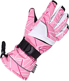 ACVIP Women's Plaid Buckled Thickened Water-proof Cold Weather Active Gloves