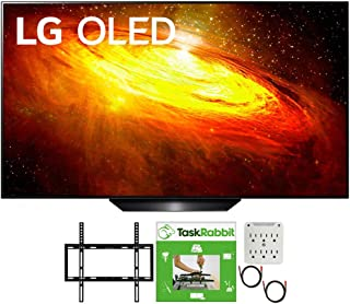 LG OLED65BXPUA 65 inch BX 4K Smart OLED TV with AI ThinQ 2020 Model Bundle with TaskRabbit Installation Services + Deco Ge...