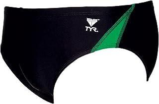 TYR YouthアライアンスチームスプライスRacer、ブラック/グリーン、24