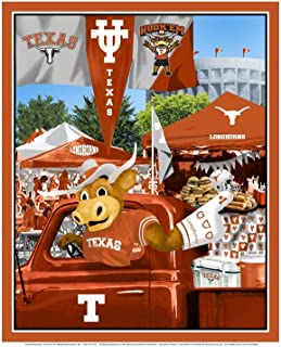 University of Texas Cotton Fabric Panel with Tailgate Design-Sold by The Panel