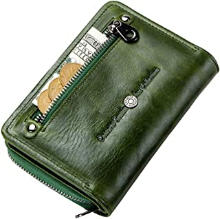 Leather Wallets For Women Compact - Bifold Wallets for Women - Ladies Wallets with Coin Purse - Travel Wallet with ID Window