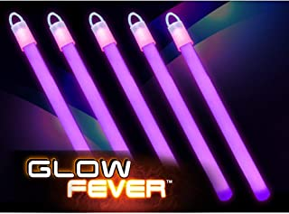 """Glow Fever Bulk 100ct 6"""" Glow in The Dark Sticks, End Caps with Lanyards Included, for Party Supplies Festivals Raves Birt..."""