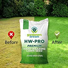 GARDENERS DREAM HARD- WEARING/SHADY/FINE LAWN GRASS SEED (1KG, HARD WEARING LAWN SEED)