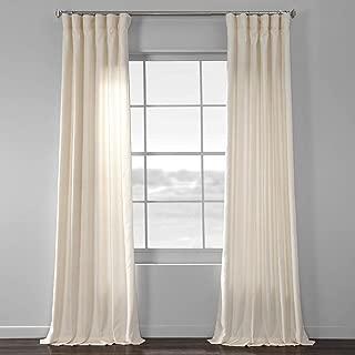 HPD Half Price Drapes SSKR-71833-96 Faux Dupioni Raw Silk Curtain, 50 X 96, Vireo Ivory