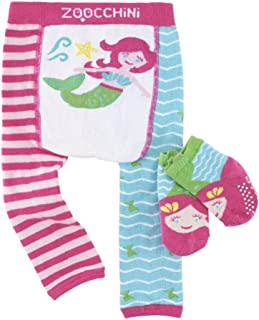 Zoocchini, Juego de Leggings y Calcetines Antideslizantes para bebés de 12 a 18 Meses