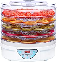 YUNTAO Food dehydrator, Fruit Dryer, Electric Adjustable Temperature Mute Timing 5 Layer Tray Dry Food Machine for Househo...