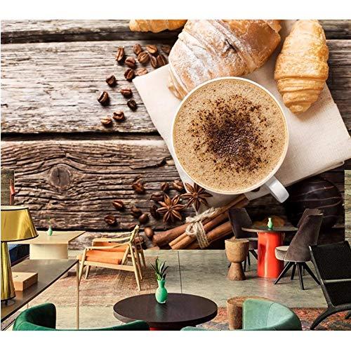 Pmhhc Café Croissant Taza De Canela Grano Comida Papel Tapiz ...