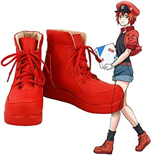 Zunpeng Cells at Work Red Blood Cell Cosplay Shoes Boots