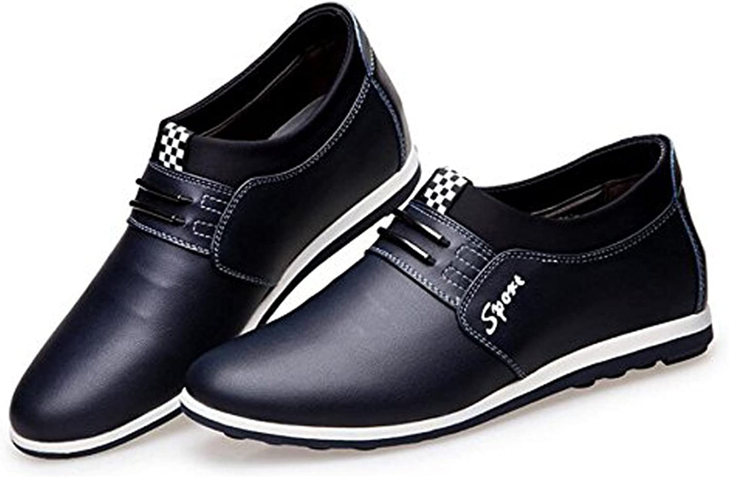 LQV New Men's Casual shoes England Youth Non-Slip Breathable shoes Trend Classic Comfortable and Breathable