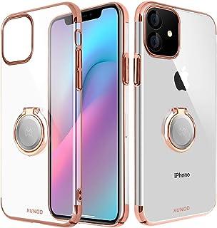 funci/ón Atril Soporte para Coche con im/án para iPhone XR,oro rosa XUNDD Funda para iPhone XR,Carcasa de Cristal con Soporte magn/ético de 360 Grados