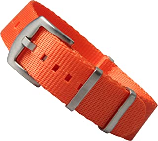 ZOVNE - Seatbelt Nylon Watch Band with Heavy Buckle 20mm 22mm for Men Women