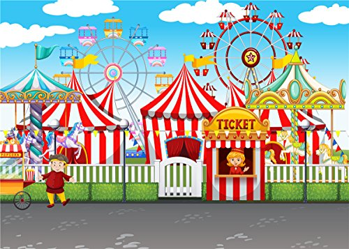 Daniu Vinyl Ferris Wheel Foto de Fondo Circo Carnaval Fiesta Telones de...