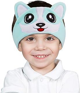 iClever Kids Headphones Girls - Sleeping Headphones for Kids, Comfortable Fleece Headband, Removable Speakers, Washable Headband, Volume Limiting, Tangle-Free Wires - Childrens Headphones, Blue