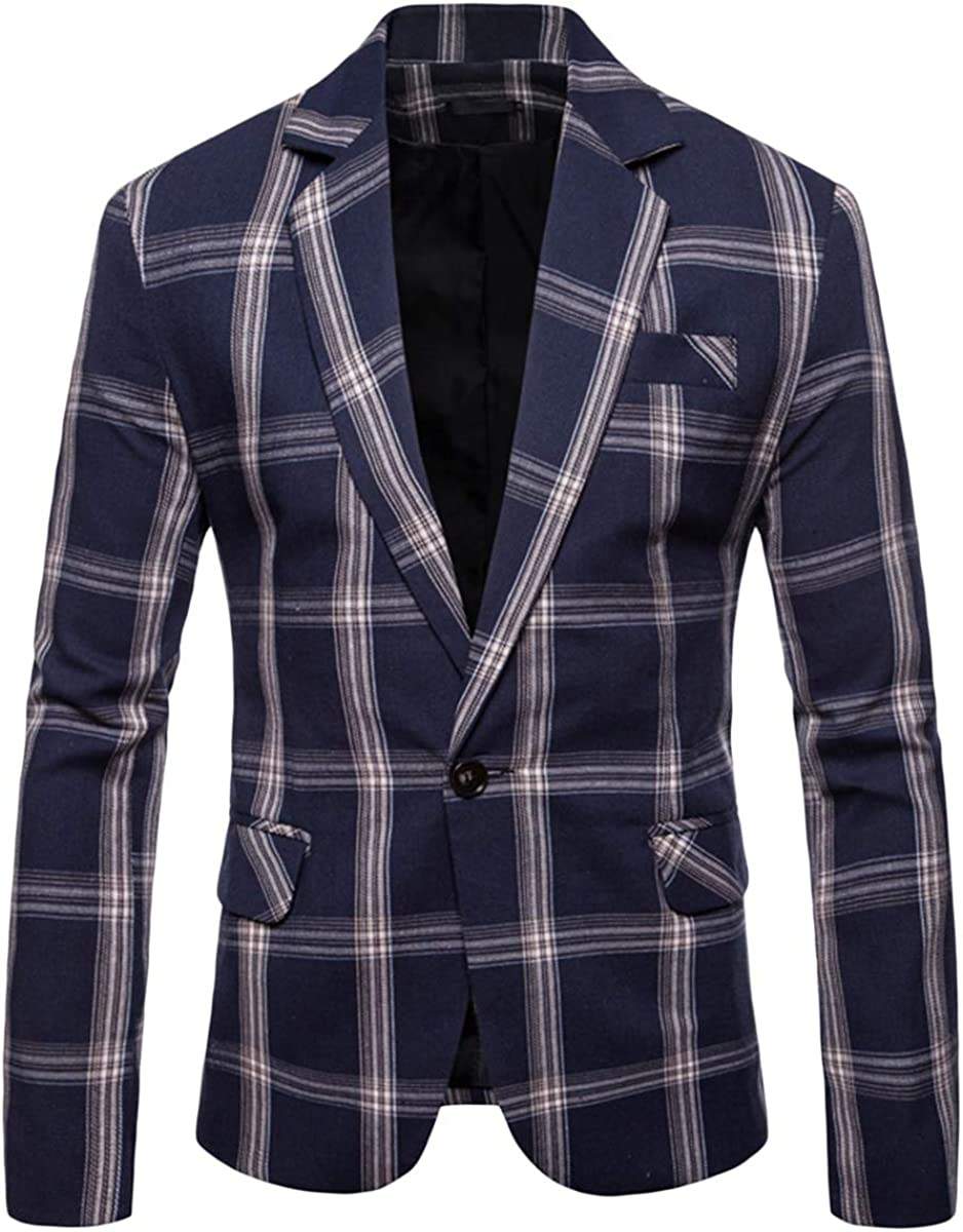 Men's Casual Max 50% OFF Blazers Sport Coats for Floral Fees free!! Slim Plaid Fit Jeans