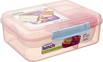 Sistema Bento Lunch Food Container, 1.65 Liters - Rose