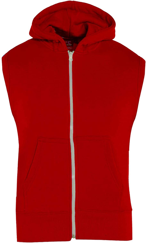A2Z 4 Kids Kids Girls Boys Plain Gilet Fleece Hoodie Zipper Sleeveless Jacket