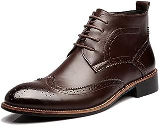 Sunny&Baby Zapatos de Hombre con Cordones de Oxfords Transpirables Botines de tacón Alto para Caballeros Resistente a la a...
